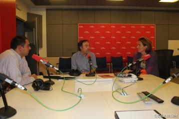 Foto con Roge Blasco en el programa La Casa de la Palabra