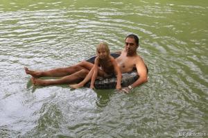 Relajandonos en el Blue Lagoon
