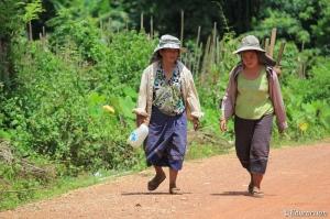 Campesina en Vang Vieng (Laos)