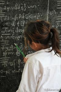 Estudiante en la Escuela del Km42