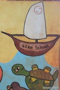 Mural en la Escuela del Km42