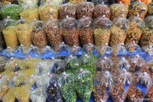 Frutos secos en el mercado de Chiang Mai