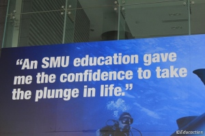 Cartel sobre educación en Singapore
